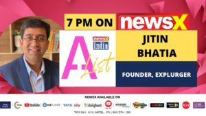 Jitin Bhatia, Founder, Explurger in conversation with NewsX on India A-List | NewsX
